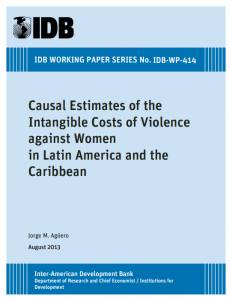 Portada Causal Estimates of the Intangible Costs of Violence against Women in Latin America and the Caribbean