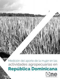 Portada Medición del aporte de las mujeres en las actividades agropecuarias en República Dominicana