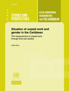 Portada Situation of unpaid work and gender in the Caribbean