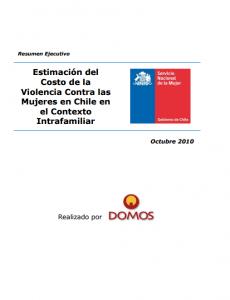 Portada Estimación del Costo de la Violencia Contra las Mujeres en Chile en el Contexto Intrafamiliar - Resumen Ejecutivo