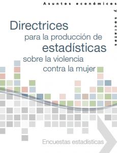 Portada Directrices para la producción de estadísticas sobre la violencia contra la mujer: Encuestas estadísticas