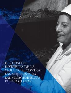 Portada Los costos invisibles de la violencia contra las mujeres para las microempresas ecuatorianas
