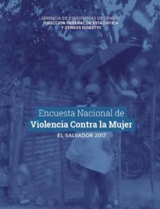 Portada Encuesta Nacional de Violencia Contra las Mujeres, El Salvador 2017