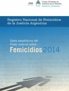 Portada Registro Nacional de Femicidios de la Justicia Argentina
