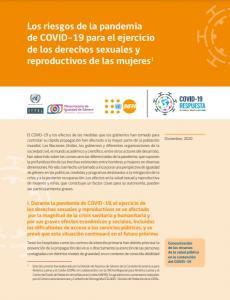 Los riesgos de la pandemia de COVID-19 para el ejercicio de los derechos sexuales y reproductivos de las mujeres