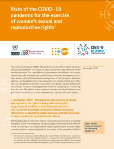 Risks of the COVID-19 pandemic for the exercise of women's sexual and reproductive rights