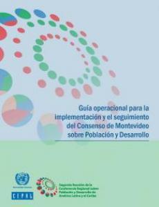 Portada Guía operacional para la implementación y el seguimiento del Consenso de Montevideo sobre Población y Desarrollo