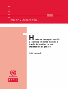 Portada Honduras: una aproximación a la situación de las mujeres a través del análisis de los indicadores de género