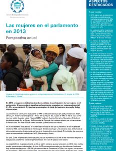Portada Las mujeres en el parlamento en 2013: Perspectiva anual