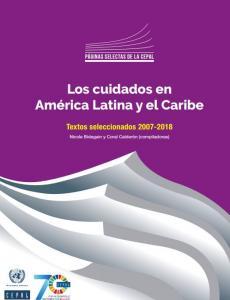 Portada Los cuidados en América Latina y el Caribe. Textos seleccionados 2007-2018
