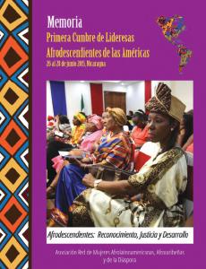 Portada Memoria Primera Cumbre de Lideresas Afrodescendientes de las Américas