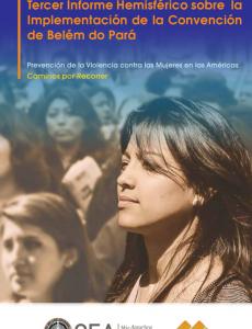 Portada Tercer Informe Hemisférico sobre la Implementación de la Convención de Belém do Pará