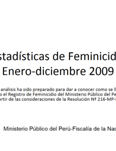 Portada Registro de Feminicidio del Ministerio Público del Perú