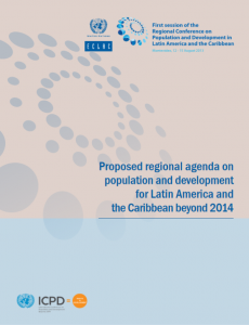 Proposed regional agenda on population and development for Latin America and the Caribbean beyond 2014 Cover