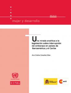 Portada Una mirada analítica a la legislación sobre interrupción del embarazo en países de Iberoamérica y el Caribe