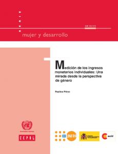 Portada Medición de los ingresos monetarios individuales: una mirada desde la perspectiva de género