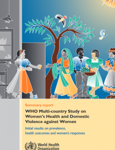 WHO multi-country study on women's health and domestic violence against women cover