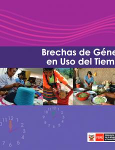 Portada Boletín sobre brechas de género en el uso del tiempo