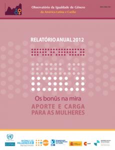 Portada Relatório anual Observatório da Igualdade de Gênero