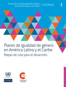 Portada Planes de igualdad de género en América Latina y el Caribe: Mapas de ruta para el desarrollo