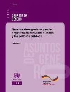 Portada Desafíos demográficos para la organización social del cuidado y las políticas públicas
