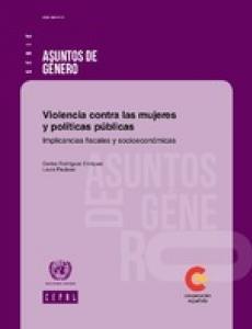 Portada Violencia contra las mujeres y políticas públicas: implicancias fiscales y socioeconómicas