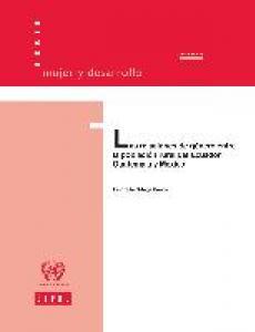 Portada Las relaciones de género entre la población rural del Ecuador, Guatemala y México