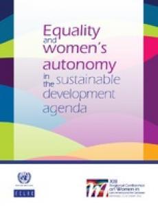 Portada Equality and women's autonomy in the sustainable development agenda