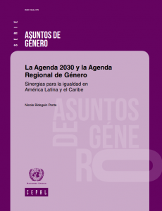 Portada La Agenda 2030 y la Agenda Regional de Género: sinergias para la igualdad en América Latina y el Caribe