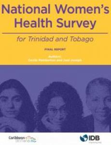 Portada National women's health survey for Trinidad and Tobago: final report