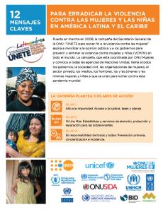 Portada Para erradicar la violencia contra las mujeres y las niñas en América Latina y El Caribe: 12 mensajes claves
