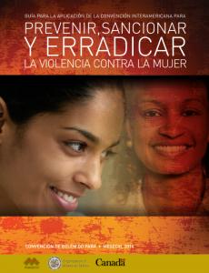Portada Guía para la aplicación de la Convención Interamericana para Prevenir, Sancionar y Erradicar la Violencia contra la Mujer (Convención de Belém do Pará)
