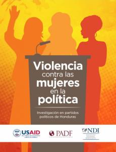 Portada Violencia contra las mujeres en la política: Investigación en partidos políticos de Honduras