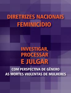 Portada Diretrizes para investigar, processar e julgar com perspectiva de gênero as mortes violentas de mulheres