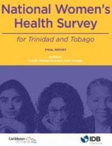 Portada National women's health survey for Trinidad and Tobago: final report