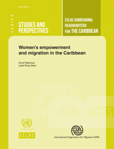 Portada Women's empowerment and migration in the Caribbean