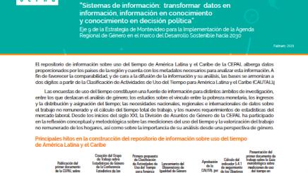 Repositorio de información sobre uso del tiempo de América Latina y el Caribe