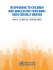 Portada Responding to children and adolescent who have been sexually abused: WHO clinical guidelines